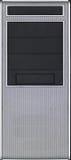 Лицевая сторона случая компьютера сделанная от серебряной стали Стоковое Изображение RF