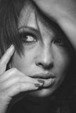 Лицевая съемка женщины Стоковое Фото