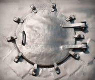 Лицевая часть двери боилера парового двигателя Стоковые Фотографии RF