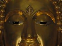 Лицевое изображение - тайская статуя Будды - искусство Будды - Sukhothai - угрызение - Mara - Wichai стоковые фотографии rf
