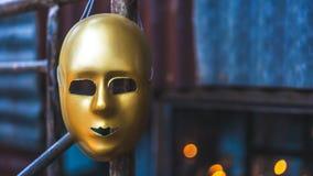 Лицевой щиток гермошлема знаменитости Masquerade золота стоковая фотография rf