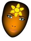 Лицевой щиток гермошлема девушки Стоковые Фотографии RF