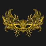 Лицевой щиток гермошлема масленицы в стиле zentangle символ venice Кружевной th Стоковое Фото