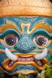 Лицевой щиток гермошлема тайского бога Стоковая Фотография