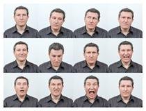 Лицевые выражения Стоковая Фотография RF