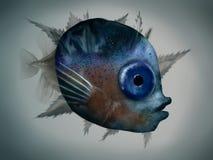Личинка Mola Mola - иллюстрация цифров Стоковые Фото