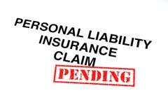Личная заявка обязательства по страхованию иллюстрация штока