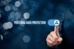 Личная концепция защиты данных стоковое фото