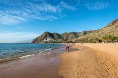 Личная охрана на пляже Las Teresitas, Тенерифе, Канарские острова, Стоковая Фотография