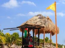 Личная охрана на пляже Стоковое фото RF