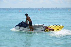 Личная охрана на jetski, Miami Beach Стоковые Фотографии RF