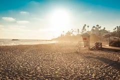Личная охрана пляжа Laguna в заходе солнца Стоковые Фотографии RF