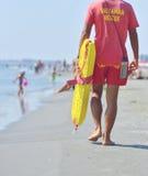 Личная охрана пляжа на обязанности Стоковые Фотографии RF