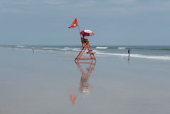Личная охрана пляжа Стоковое фото RF