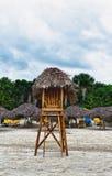 личная охрана стула пляжа Стоковая Фотография RF