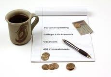 личная решений финансовохозяйственная Стоковое фото RF