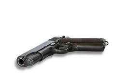 Личное огнестрельное оружие пистолета на белой предпосылке Стоковое Изображение