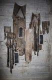 Личные вещи героикоромантических защитников музей в Adzhimushkay разрабатывать Kerch стоковые фотографии rf