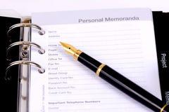 Личные меморандумы Стоковое фото RF