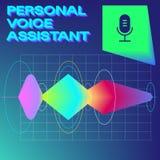 Личный помощник и концепция опознавания голоса иллюстрация штока