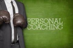 Личный тренировать на классн классном с бизнесменом Стоковые Фотографии RF