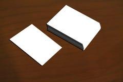 Личный шаблон карточки Стоковые Изображения RF