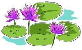 Лилии воды иллюстрация вектора
