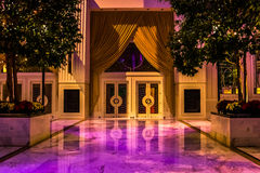 Лоббируйте зону в курорте Gaylord национальном, в национальной гавани, m Стоковые Изображения RF