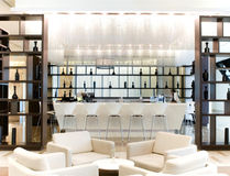 лобби гостиницы напитка штанги Стоковые Изображения