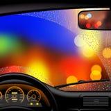Лобовое стекло в дожде Стоковое фото RF