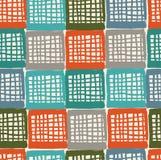 Ловить сетью абстрактную в стиле фанк картину. Безшовная цветастая checkered предпосылка. Декоративная checkered текстура Стоковые Фото