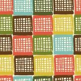Ловить сетью абстрактную grungy картину. Безшовная цветастая checkered предпосылка. Декоративная checkered текстура Стоковое Изображение RF