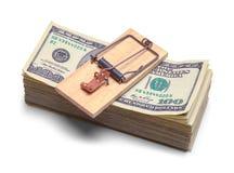 Ловушка денег и мыши Стоковые Фотографии RF