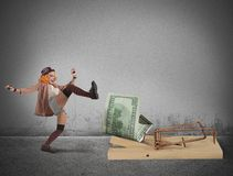 Ловушка денег клоуна стоковая фотография
