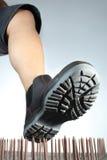 ловушка ногтей ботинка стоковое фото rf
