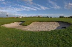 ловушка песка гольфа курса Стоковое Изображение RF
