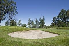 ловушка песка гольфа курса Стоковые Изображения RF