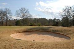 ловушка песка гольфа курса Стоковое фото RF