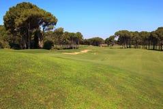 ловушка песка гольфа курса Стоковая Фотография