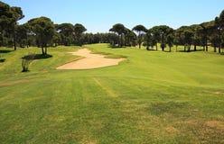 ловушка песка гольфа курса Стоковое Фото