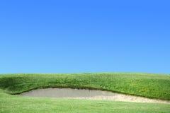 ловушка песка гольфа курса Стоковое Изображение