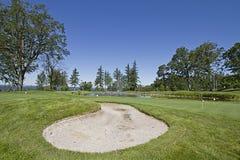 ловушка песка гольфа 2 курсов Стоковые Фото