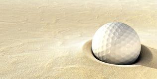ловушка песка hazzard гольфа шарика стоковые изображения rf