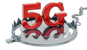 Ловушка с 5G символом, перевод 3D бесплатная иллюстрация