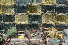 Ловушки и анкеры омара Стоковое фото RF