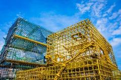 Ловушки омара на пристани Стоковое Фото