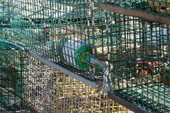 Ловушки омара с томбуем флотирования стоковые фото
