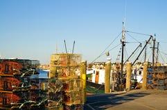 ловушки пристани омара Стоковые Изображения