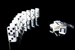 Логика домино и геометрии стоковое изображение