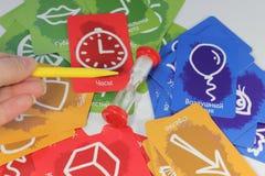 Логика карточной игры стоковые фото